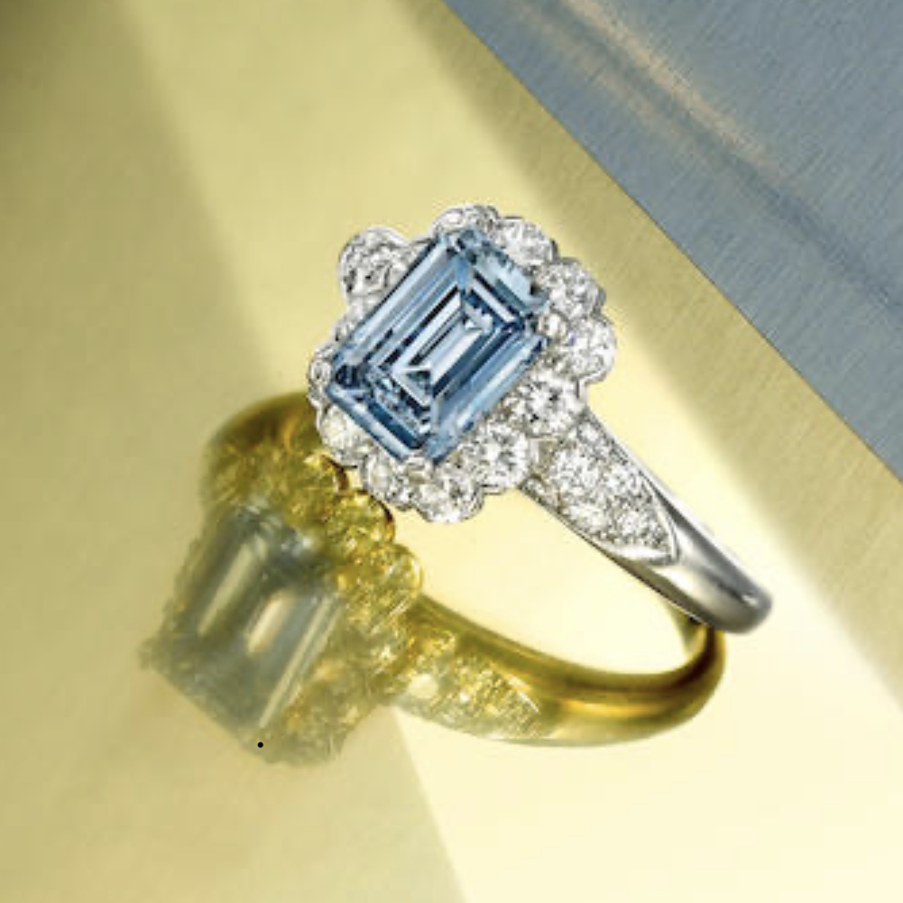 Bonham's New York Auction Results Holds Strong Price For A Rare Blue Diamond