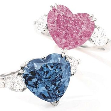 Sotheby's Will Try To Reignite The Love For Fancy Color Diamonds With A Unique Pair Of Hearts At The Upcoming Hong Kong Auction